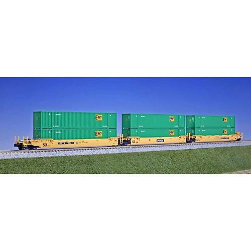 ■【KATO/カトー】(106-6162)MAXI-IV TTX (EMP グリーンコンテナ付) 732386 鉄道模型 外国車両 Nゲージ