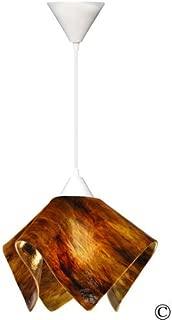 product image for Jezebel Signature Flame Pendant Large. Hardware: White. Glass: Earth