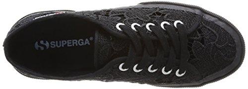Superga 2750 MACRAMEW - zapatilla deportiva de lona unisex negro - Schwarz (Full Black S996)