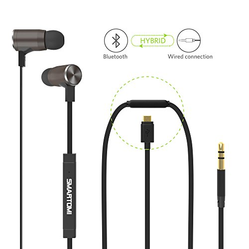 smartomi wired wireless headphones with mic magnetic bluetooth 4 1 noise canc. Black Bedroom Furniture Sets. Home Design Ideas