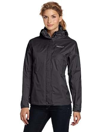 Marmot PreCip Women's Lightweight Waterproof Rain Jacket, Black, XX-Large