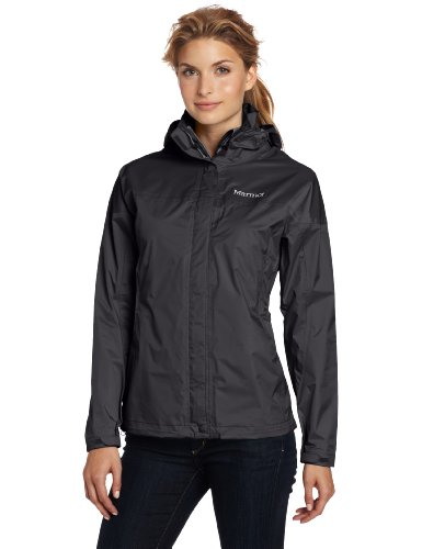 Marmot Women's Precip Jacket, Black, Medium