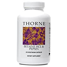 Thorne Research - Betaine HCl & Pepsin - Dietary Supplement to Promote Digestion - 225 Capsules