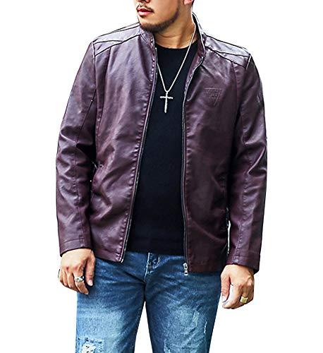 In Rosso Slim Alta Mengyu Pu Smart Pelle Qualità Elegante Giacche Giubbotto Uomo Fit 4qX15x
