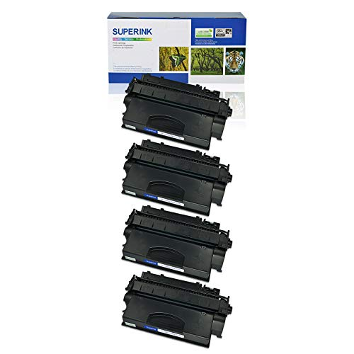 SuperInk 4 Pack Compatible Toner Cartridge Replacement for Canon 120 CRG120 CRG-120 2617B001AA Black use in canon ImageClass D1100 D1120 D1150 D1170 D1180 D1320 D1350 D1370 D1520 D1550 MF6680 MF6780DW (Black Cartridge 120 Toner)