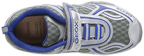 Geox J Lt Eclipse A - Zapatos para niños Silber - Argent (Silver/Royal)