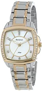 Armitron Women's 75/5155MPTT Swarovski Crystal Accented Cushion Shaped Two-Tone Bracelet Watch
