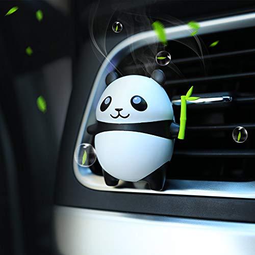 Panda Gift (AMind Panda Car Air Freshener Aromatherapy Essential Oil Diffuser Xmas Gift Cute Panda Locket with Car Perfume Car Fragrance Diffuser Vent Clip)