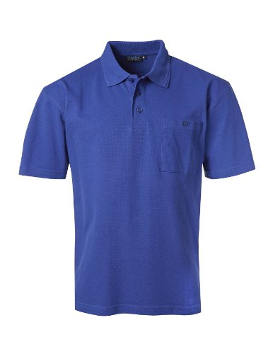 PIONIER WORKWEAR Herren Poloshirt-Piqué kurzarm in kornblau (Art.-Nr. 2813) kornblau,Größe XL