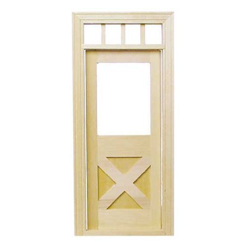 Dollhouse Miniature Crossbuck Door by