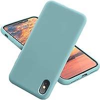 MCUCA iPhone X Case/iPhone Xs case Liquid Silicone Gel Rubber Bumper Case,Ultra-Thin Soft Microfiber Lined Full Body...