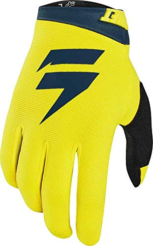 (Shift 2020 Youth White Label Air Gloves (Medium) (Yellow/Navy))