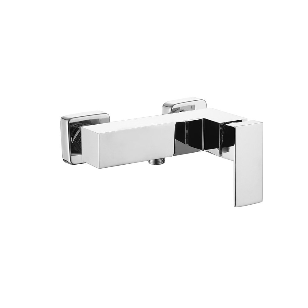 Bathroom Shower Faucet Rainbow Will Single Handle Solid Brass Rough-in Concealed Valve Contemporary Square Style Polished Chrome