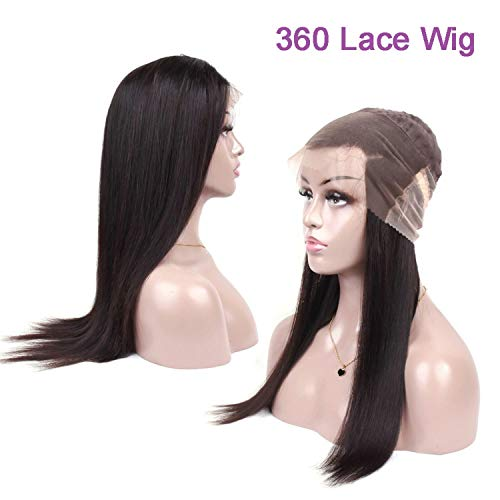 Straight Hair 360 Lace Frontal Wig With Baby