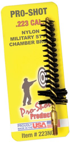 Pro Shot .223-Caliber/5.5mm Military Style Nylon Chamber Brush (Ar 15 Cleaning Brush)