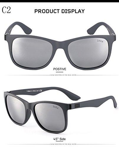 400 UV Mujer Protección C1 Gafas De Polarizadas C2 para Sol Hombre Aviator para zXZ4xgwq