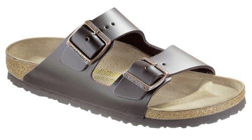 (Birkenstock Womens Arizona Dark Brown Leather Sandals 39 EU)