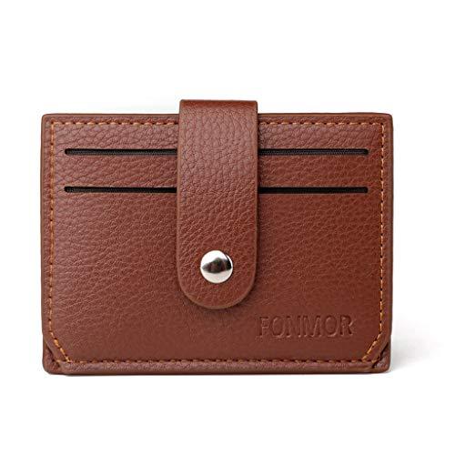 pollyhb Messenger Bag, Unisex Pure Color Leather Passport Card Holder Clutch Bag Hasp Purse Wallet for Leisure