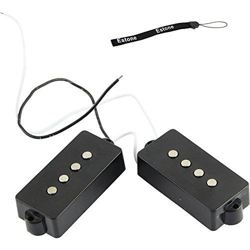 - Estone 4 String Noiseless Pickup Set For Precision P Bass Bridge Pickup Set Black