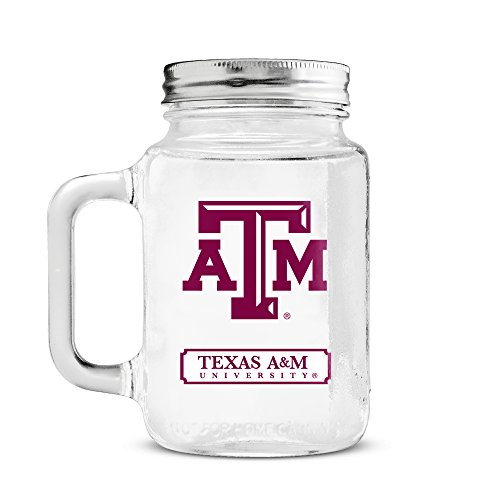 Duck House NCAA Texas A & M Aggies 20oz Glass Mason Jar
