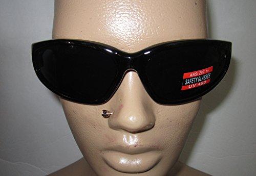 Hercules Unbreakable Super Dark Safety Glasses No More Broken - More Sunglasses And