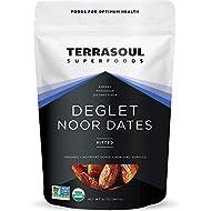 Terrasoul Superfoods Organic Deglet Dates, 2 Lbs - Pitted | Fresh | Natural Sweetener