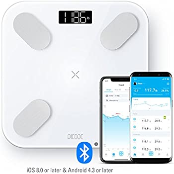 PICOOC Big PRO Bluetooth Smart Body Fat Scale, Wireless Digital Bathroom Scale with iOS & Android App, Body Composition Analyzer, Instant Readout, ...