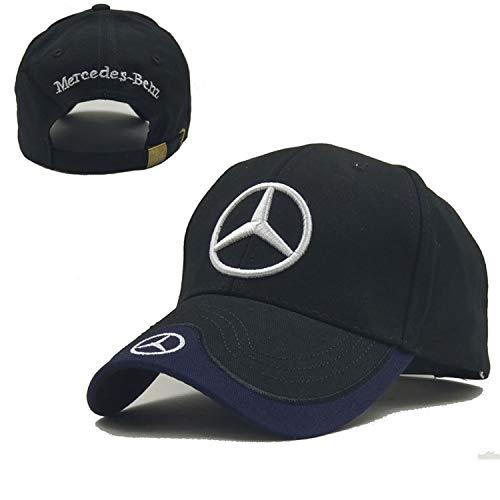 Ldntly Baseball Cap Adjustable Men Women Car Logo Black Baseball Cap Adjustable Hat (Mercedes Benz)