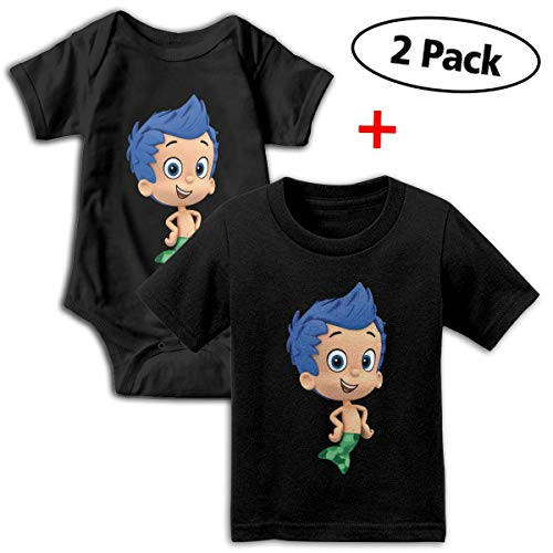Bubble Guppies Babys Boy's & Girl's Short Sleeve Jumpsuit Outfits And T-shirt ()