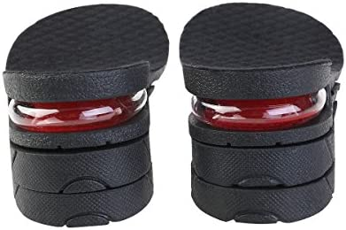Ultnice Unisex-Einlegesohlen mit Keilabsatz, Absatzhöhe 6 cm (schwarz), 1 Paar