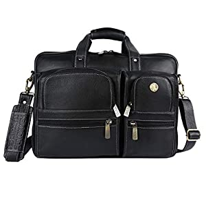 Hammonds Flycatcher Original Bombay Brown Leather 15.6 inch Laptop Messenger Bag with Trolley Straps (L=40,H=28, B=15 cm) LB136BL