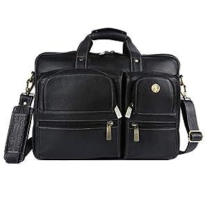 Hammonds Flycatcher Original Bombay Brown Leather 15.6 inch Laptop Messenger Bag with Trolley Straps (L=40,H=28, B=15 cm) LB136BL
