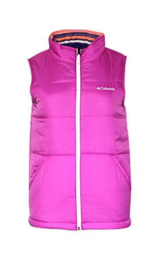 COLUMBIA youth girls Ice Chips REVERSIBLE Fleece PUFFER Vest (L 14-16) (Reversible Puffer Vest)