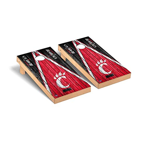 Victory Tailgate University of Cincinnati Bearcats Regulation Cornhole Game Set Triangle Weathered Version