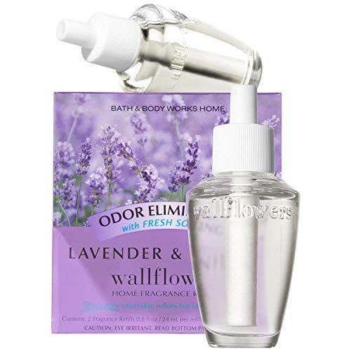 Bath Body Works Wallflowers - Bath & Body Works Lavender & Vanilla Odor Eliminating With Fresh Source Wallflowers Home Fragrance Refills, 2-Pack (1.6 fl oz total)