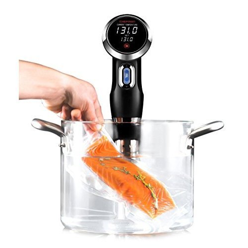 Chefman Sous Vide Immersion Circulator w/Accurate Temperature, Programmable Digital Touch Screen Display and Easy to Use Controls, 1100 Watts, Black