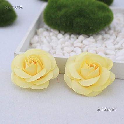 Amazoncom Shinebear 3 Pieces Artificial Camellia Rose Silk