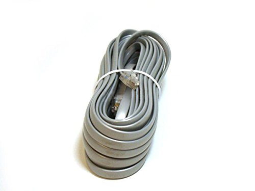 Monoprice 100942RJ12 6P6C Straight Landline Telephone Cable, 25-Feet for Data 6p6c Cable