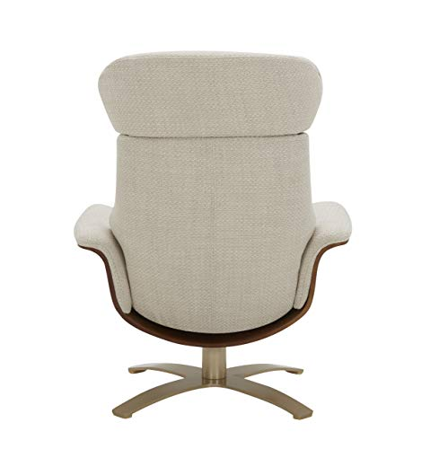 Living Room Amazon Brand – Rivet Olander Mid-Century Modern Recliner Chair with a Swivel Base, 31.1″W, Stucco modern accent chairs