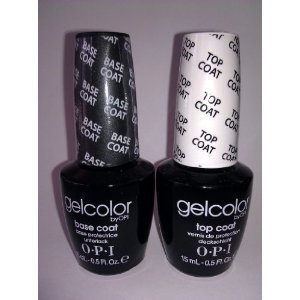 OPI Gelcolor Soak off Gel Base & Top Coat 0.5 oz / 15 ml each
