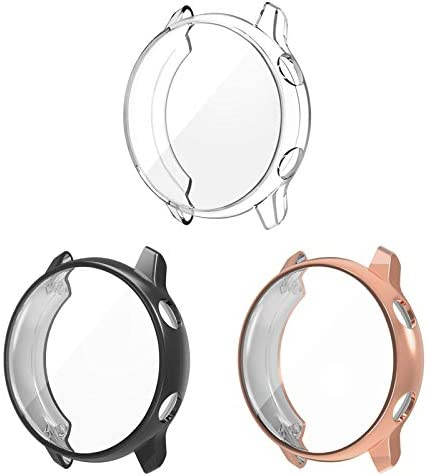 3 Pack Compatible Samsung Galaxy Watch Active Screen Protector Case Cover,YiJYi Ultra Slim Soft Full Coverage Bumper[Sractch-Proof] Protection for Samsung Galaxy Watch Active 40mm