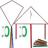 Best Kite Kit For Kids - HENGDA KITE DIY Blank Painting Kite for Kids-Single Review