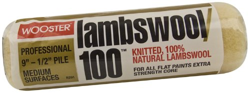 Wooster Brush R291-9 Lambswool 100 Roller Cover, 1/2-Inch Nap, 9-Inch