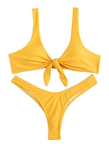 Yellow Thong Bikini Set in Australia - 5