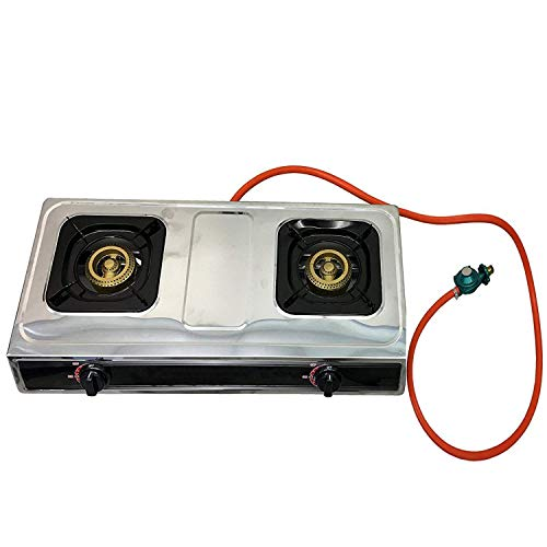 Unique Imports #1 Double Burner Stove Gas Propane Stove Cooktop Commercial Outdoor Whirlwind Burner Camp Cooking