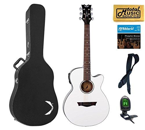dean acoustic guitar white - 5
