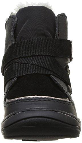 Kickers ZEDINON WPF - Zapatos primeros pasos de material sintético para niña negro - Schwarz (NOIR 8)