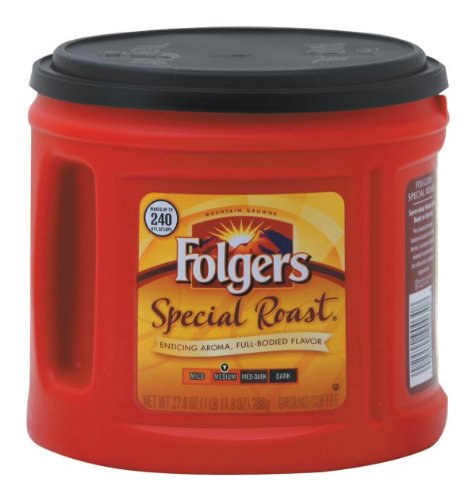 Folgers Coffee Ground Special Roast, 27.8-Ounce Packages (Pack of 2)