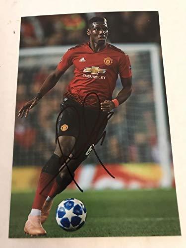 PAUL POGBA Signed 6 X 4 Inch Soccer Photograph. Genuine Autograph. COA! Free Frame!