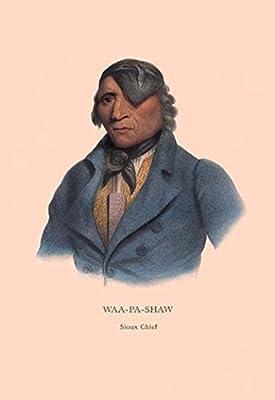 "Waa-Pa-Shaw (Sioux Chief)Fine art canvas print (20"""" x 30"""")"
